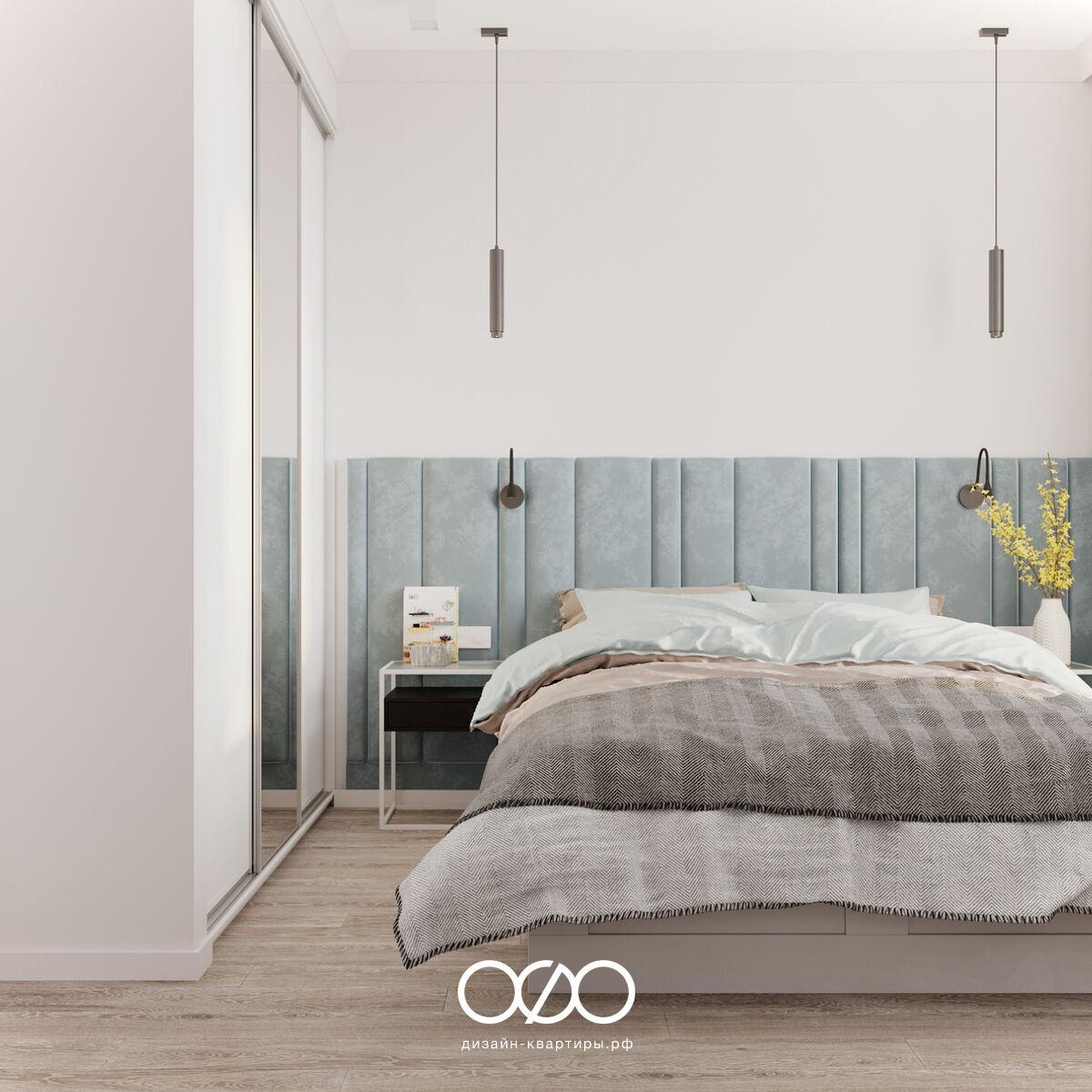 Дизайн спальни со шкафом